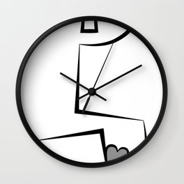 One Liner Heart Wall Clock