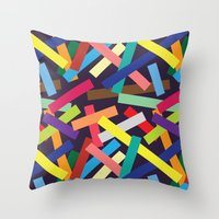 confetti Throw Pillows featuring Confetti by Joe Van Wetering