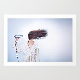 hair comic wind 4 Art Print