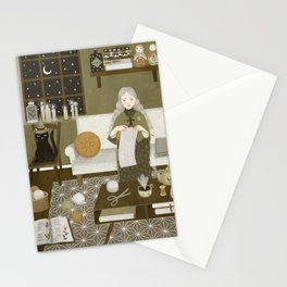 knitting magic Stationery Cards