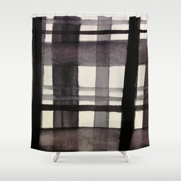 Painterly Plaid Shower Curtain
