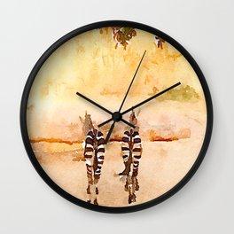 Zebra butts Wall Clock