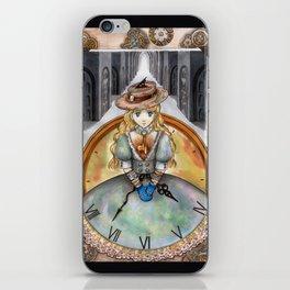 Clockgirl iPhone Skin