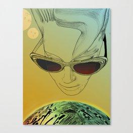Wanda ,Kisses from Planet UZU !- Day version Canvas Print