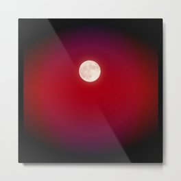 The Moon In Red Metal Print