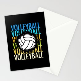 Volleyball Colorful Ball Team Set Sports Stationery Cards