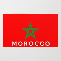 Morocco country flag name text Rug