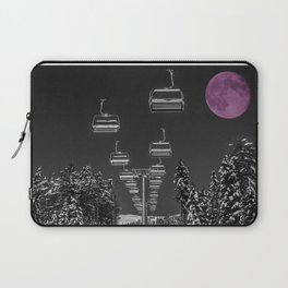 Chairlift to the Fuchsia Moon Laptop Sleeve