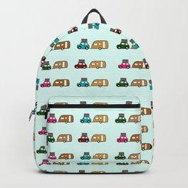 Car with caravan Backpack