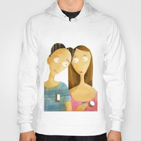 lovers Hoodies featuring Lovers by gazonula