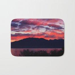 Sunrise at Utah Lake Bath Mat