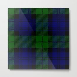 Scottish Campbell Tartan Pattern-Black Watch #2 Metal Print