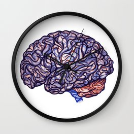 Brain Storming and tangled thoughts Wall Clock