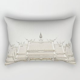 White temple, Thailand Rectangular Pillow