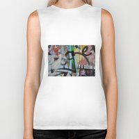 grafitti Biker Tanks featuring Layers by AntWoman