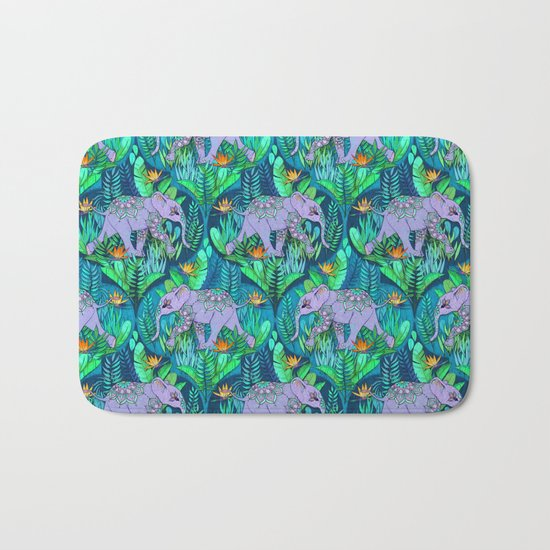 Little Elephant on a Jungle Adventure Bath Mat