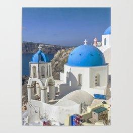 Santorini, Oia Village, Greece Poster