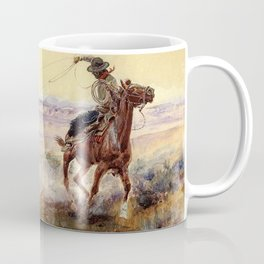 """On the Pond"" by Charles M Russell Coffee Mug"