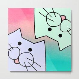 cats 222 Metal Print
