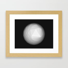 A Geometric Moon Framed Art Print