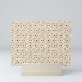 Circle Polka Dot Pattern 3, Night Watch, Alpaca Wool Cream and Scarborough Green Mini Art Print