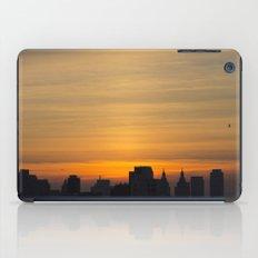 skyline brushstrokes iPad Case