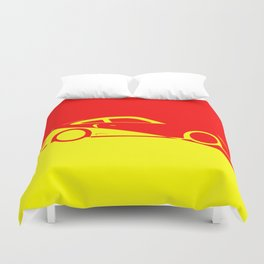 Fast Car Abstract Duvet Cover