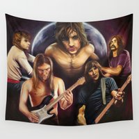floyd Wall Tapestries featuring Pink Floyd: The Art Side of the Moon by The Art of Him