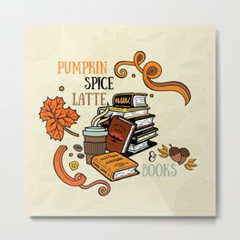 PSL & Books Metal Print