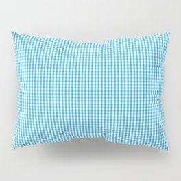 Oktoberfest Bavarian Blue and White Small Gingham Check Pillow Sham