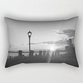 Sunset over the Hudson Rectangular Pillow