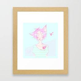Pastel cat Framed Art Print