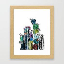 Cactus Prints Framed Art Print