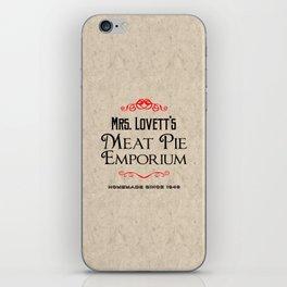 Mrs. Lovett's Meat Pie Emporium (Sweeney Todd) iPhone Skin