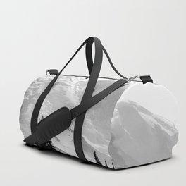 Mount Rainier Black and White Duffle Bag