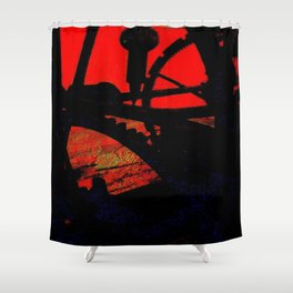 Tempus Fugit Shower Curtain