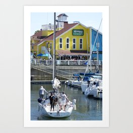 Taking the Boat Out Art Print