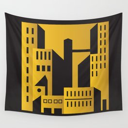 Golden city art deco Wall Tapestry