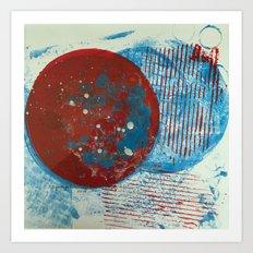 Outer Space Gelli Art Print
