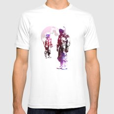 Space Men Mens Fitted Tee MEDIUM White