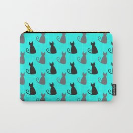 Cat Silhouette Sketch Pattern Carry-All Pouch