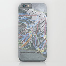Mammoth Mountain Resort Trail Map iPhone Case