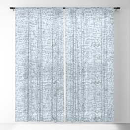 Physics Equations // Baby Blue Sheer Curtain