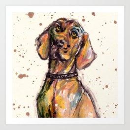 Hungarian Vizsla Dog Closeup Art Print