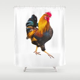 Fire Rooster Shower Curtain