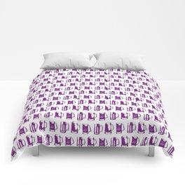 Purple Beer Mugs Comforters