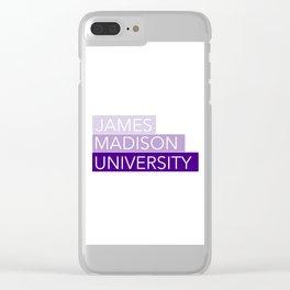 JMU Blocks Clear iPhone Case