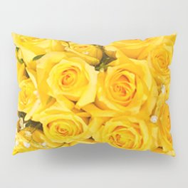 YELLOW ROSES CLUSTERED Pillow Sham