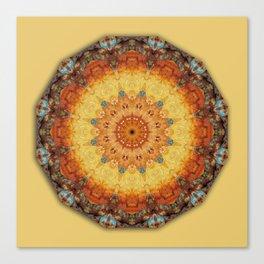 Colors of Rust 05.5, mandala-style-rust Canvas Print