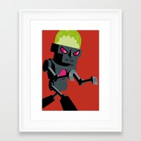 robot Framed Art Prints featuring Robot by Marco Recuero